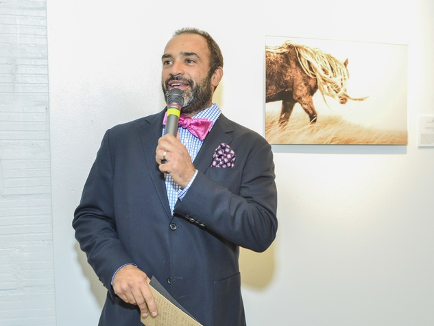 0235 Auctioneer Hamid Parvizian at the Children's Assessment Center Art Party November 2013