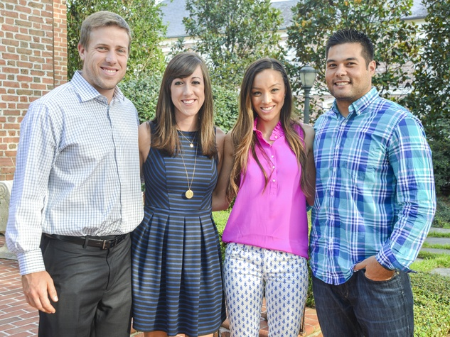 2 DePelchin Children's Center Gala kickoff Case Keenum and Kimberly Keenum, Keanna Keo and Shiloh Keo