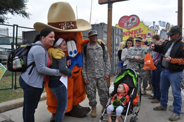 News, Shelby, happy day for military families,Rodeo Armed Services Day, March 2014