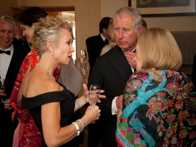 9 Houston Museum of Natural Science Prince Charles dinner July 2013 Dianne Lindahl, Prince Charles and Bea Tabor