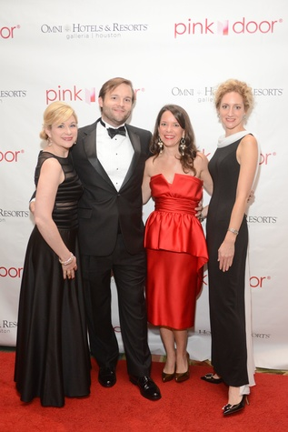 14 Aelicia Bayliss, from left, John Almy, Sara Litton and Emily Shields at the Pink Door Gala November 2014