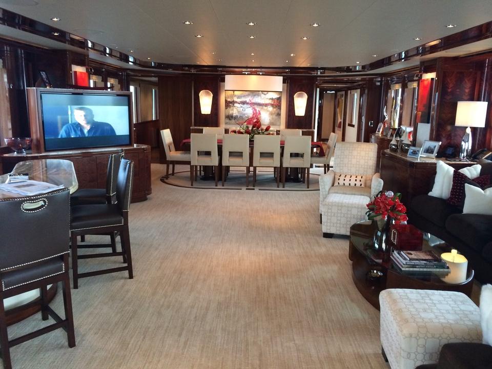 Tilman Fertitta yacht interior in Biloxi May 2014