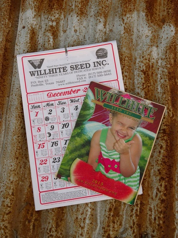 Wilhite Seed Company calendar and catalog