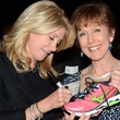 Wendy Davis signing tennis shoe Houston November 2013