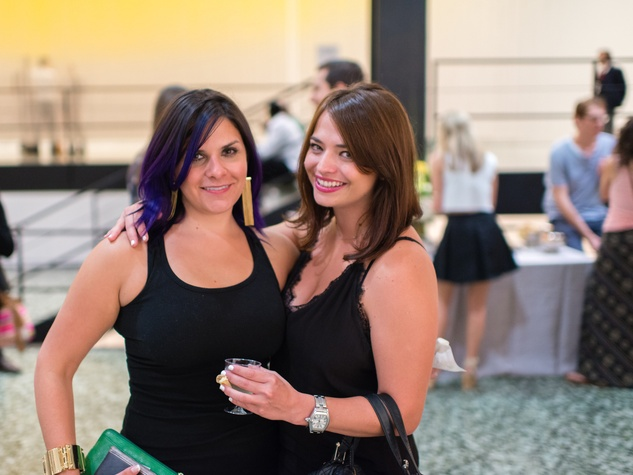 Jessica Roberts and Merissa Little, left, at the Art Crowd Soto at the MFAH June 2014