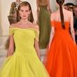 Fashion Week spring 2015 Ralph Lauren September 2014 yellow gown