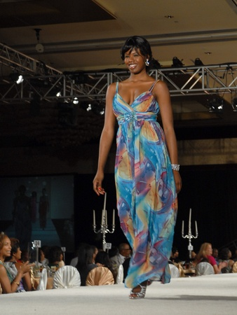 Brentwood luncheon, June 2012, fashion show, model