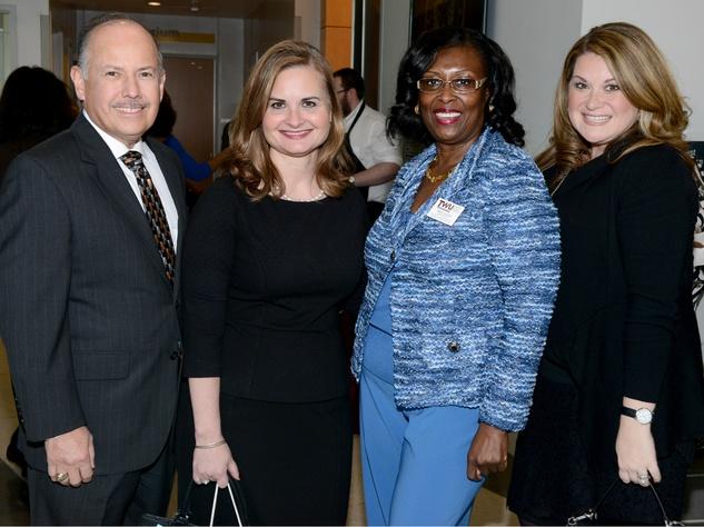 Alred Rivas, Susan Stout (both of Tiffany & Co.); Sheila Haley, TWU; Heather Norris, TWU Celebration