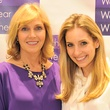 Kathy Harrison, left, and Luvi Wheelock at the What We Wear Where Mobile App party December 2013