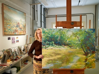 Barbara Hines, artist, painting