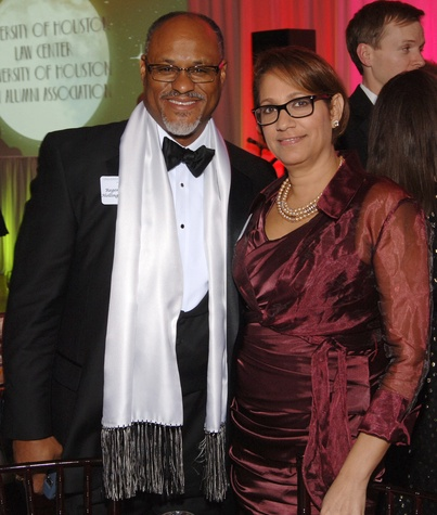 Jarvis and Andrewa Hollingsworth at the UH Law Gala March 2015