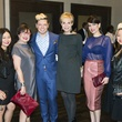 Chloe Dao, from left, Roz Pactor, David Peck, Leisa Holland Nelson, Karina Barbieri and Sydney Dao at the David Peck runway show September 2014