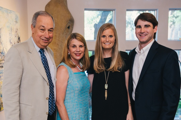 0094 21 Robert and Nancy Peiser, from left, Lindsay Canning and Edward Heap at the Houston Symphony's Young Associates Council season kick-off August 2014
