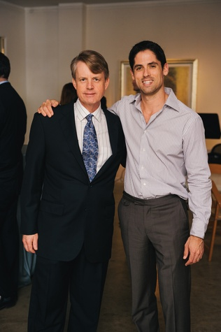 0022 3 Brian Freeze, left, and Jason Volz at the Houston Symphony's Young Associates Council season kick-off August 2014