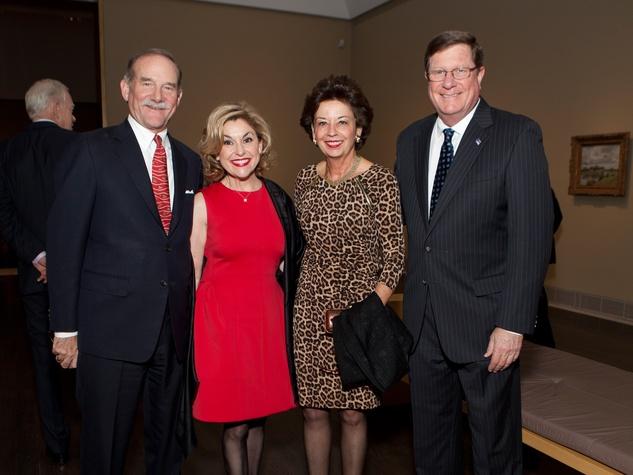 16 Marty Goossen, from left, Sharyn Weaver, Kathy Goossen and Jim Weaver at the MFAH Impressionism dinner December 2013