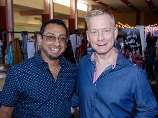 Joel Kanhai, David Call, 2017 CultureMap Dallas Holiday Pop-up