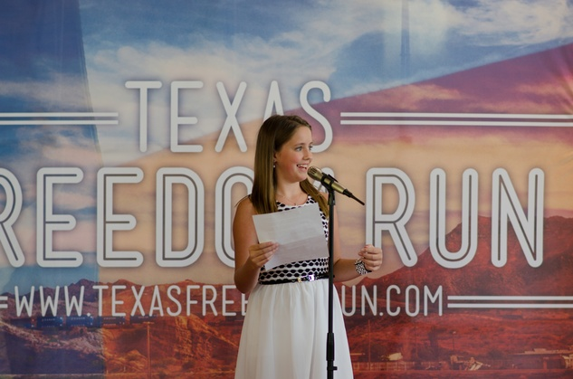News, Shelby, Texas Freedom Run, Katelyn Arcemont, July 2014