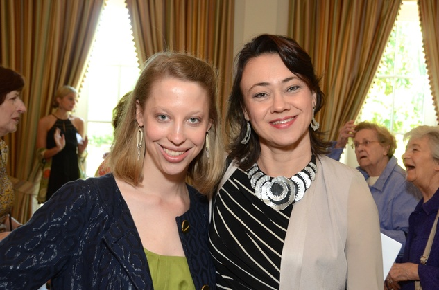 62 Kathryn Hall, left, and Olga Starostina at the Houston Center for Contemporary Craft spring luncheon May 2014