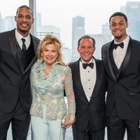 Trevor Ariza, from left, Lisa and Jerry Simon and K.J. McDaniels at the Circle of Life Gala April 2015