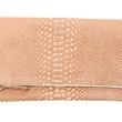 Claire Vivier foldover clutch in blush snake-Shopsaintcloud