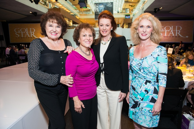 20 Warner Roberts, from left, Regina Rogers, Phyllis Pittman and Lisa Parigi at the M.D. Anderson Gold Star Luncheon September 2014