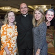 3 Bee Dickson, from left, Father Flavio Bravo and Nora Kean at the Latin Womens Initiative May 2014