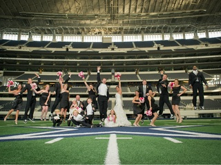 Wedding at AT&T Stadium