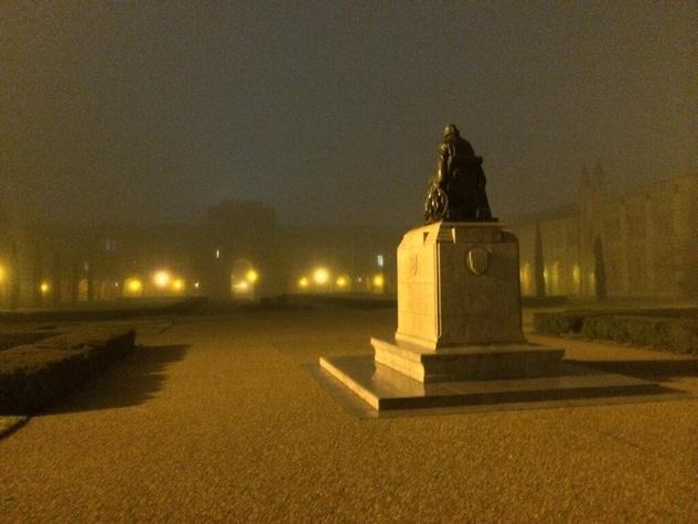 fog in Houston Rice University February 2014