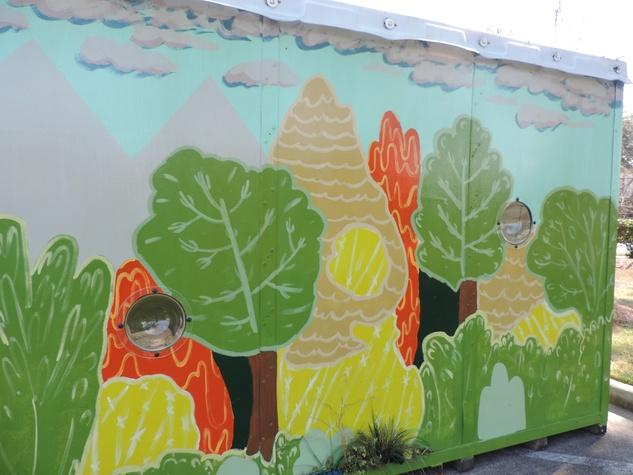 Tarra Gaines Houston Arts Alliance POD installations PODA 2.0 February 2015 Invasive Species exterior