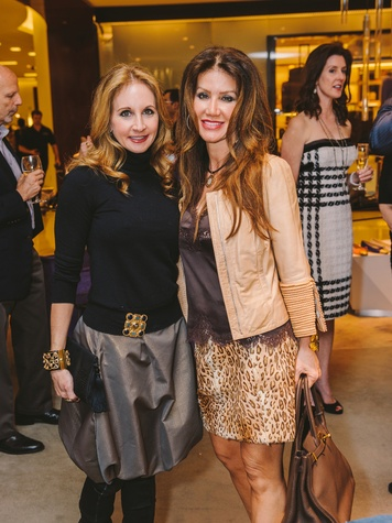 Sharin Norman, left, and Paula Fyhr at the Passion for Fashion kickoff December 2013