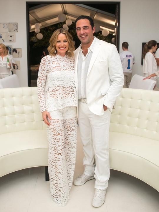 8 Lucinda and Javier Loya at the Texans White Party September 2014