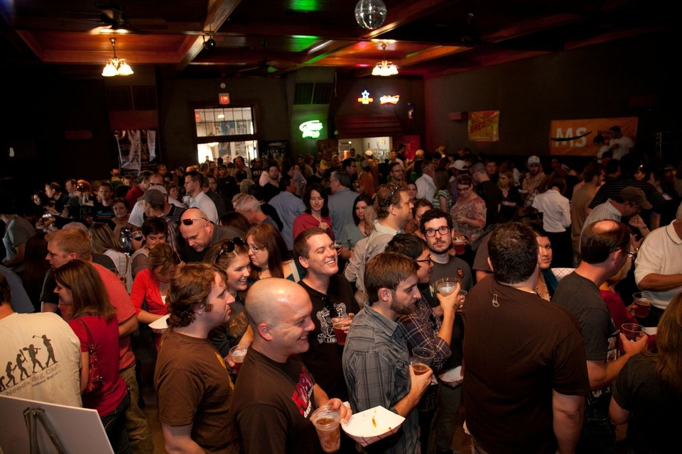 Crowded Sons of Hermann Hall at Meat Fight in Dallas