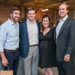 9 Jay Zeidman, from left, Stephen Strake and Casey and Will Hedges at the CultureMap Social at Gateway November 2014