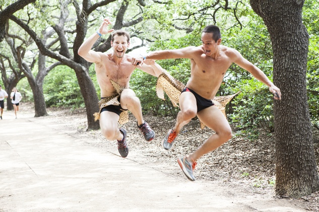Two guys in Hot Undies Run June 2014