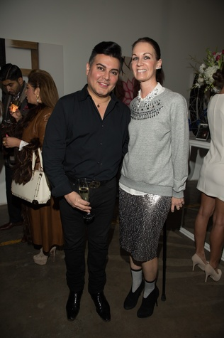 38 Edward Sanchez and Beth Muecke at the Vault Light as Air fashion show January 2015