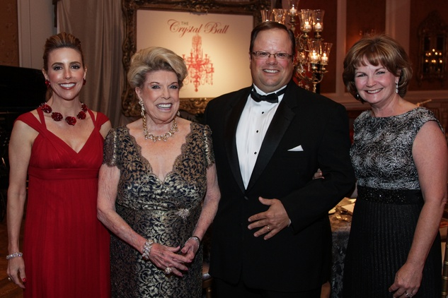 Linda Lyons Brown, from left, Joan Lyons and Ted and Stacey Lyons at the Huffington Center on Aging Gala November 2013