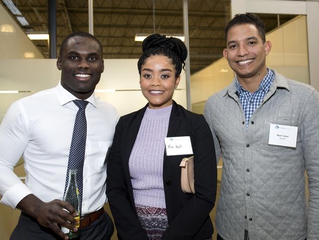 Houston, CHIME YP event at Headquarters, March 2017, Tolu Akindele, Kim Hall, Mark Talma