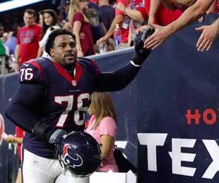 Houston Texans Duane Brown, October 2017