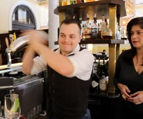 Marcy, bottom's up, Hotel Icon, August 2012, bartender, bar