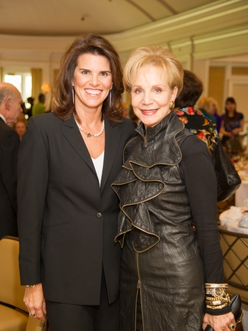 3 Lisa Malosky, left, and Lisa-Holland Nelson at the CancerForward luncheon November 2013