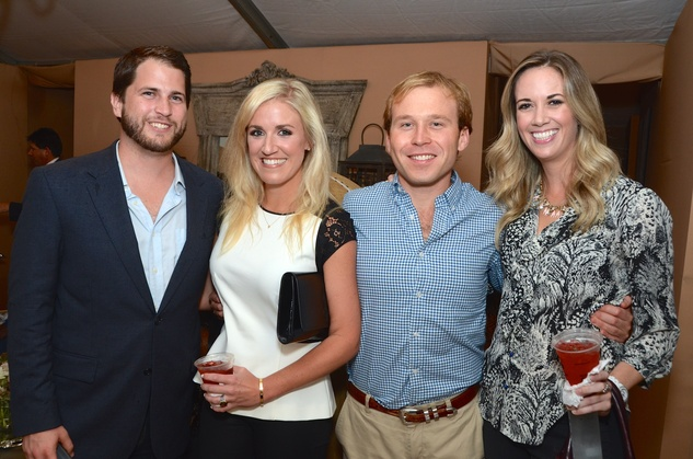Nick Scurfield, from left, Megan Sunday, Pierce Bush and Whitney Kane at the Butler Brothers party November 2014