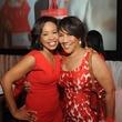 Gina Gaston, Myrtle Jones at Go Red for Women luncheon