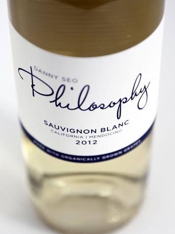 2012 Philosophy Sauvignon Blanc bottle of white wine