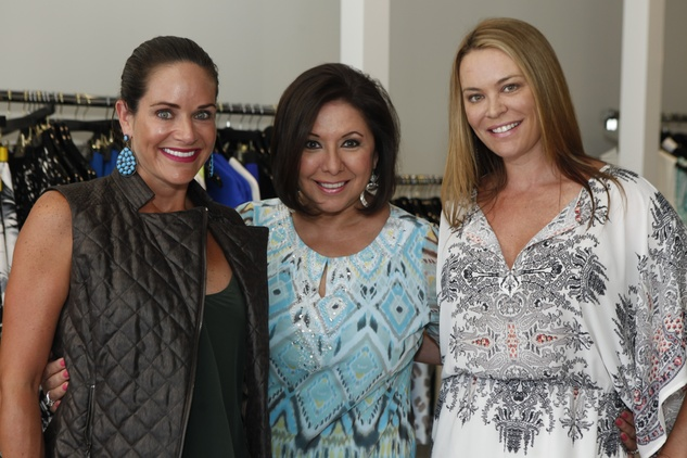 Mauney Mafrige, Debbie Festari, Megan Sutton-Reed at Hayward Trunk Show at Atrium