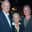 Bob Richter, from left, Olive Hershey and Frank Briscoe at Rothko Chapel's Moonrise Party on the Plaza October 2013