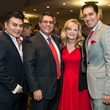 7 Edward Sanchez, from left, Roland Maldonado, Kim Padgett and Joshua Espinedo at the AIDS Foundation Houston luncheon December 2014