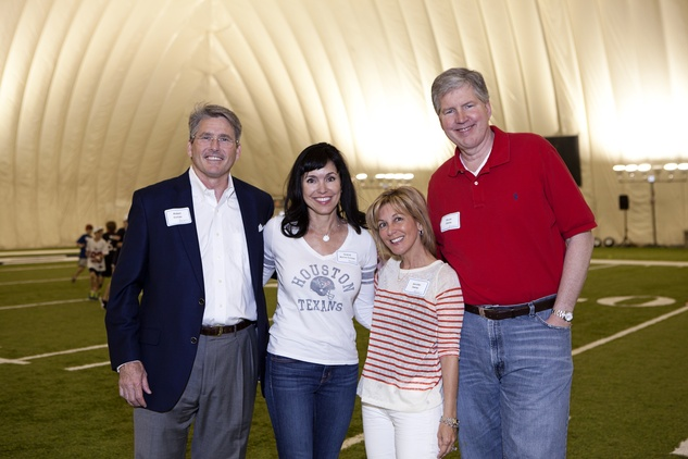 Robert Duncan and Gracia Wynne Duncan, from left, and Jennifer and Bruce Oakley at The Society for Leading Medicine Houston Texans Family Field Day May 2014