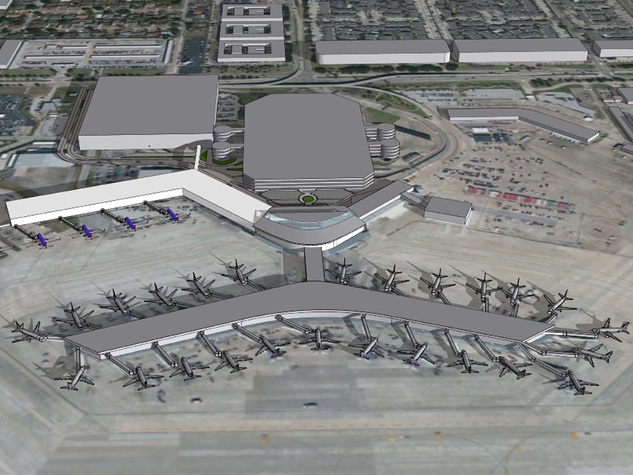 Hobby Airport Southwest Airlines new international hub rendering