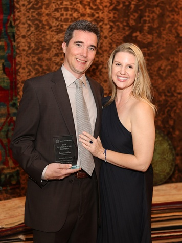 358, HGO Ovation Awards announcement and reception_March 2013, James Phelan, Lori Freese