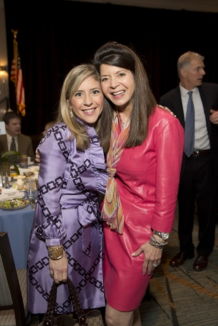 11 Diana Fisher, left, and Paula Walter at Bo's Place luncheon February 2015